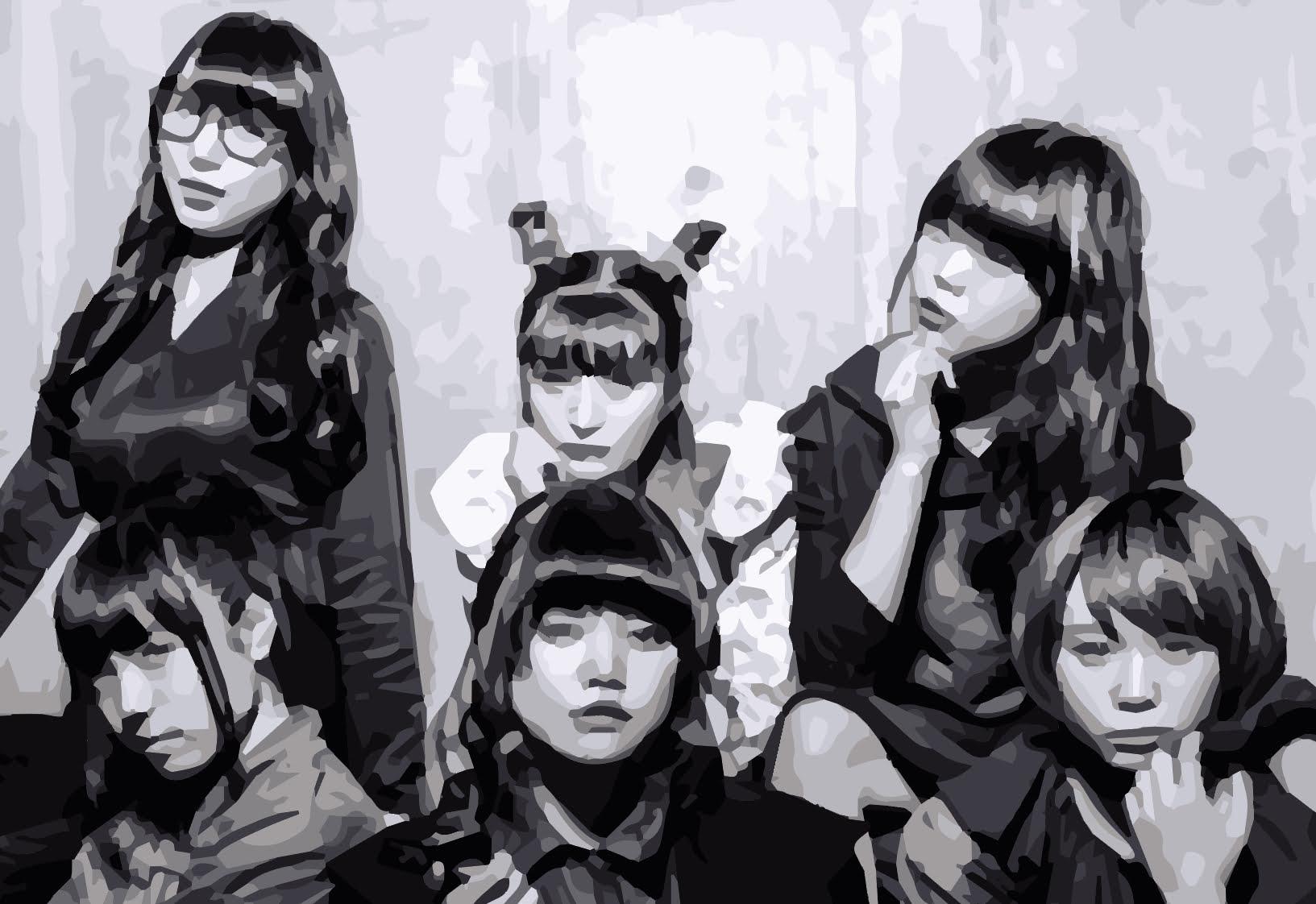 BiSHメンバーの黒い衣装の画像