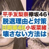 小坂菜緒と平手友梨奈の顔画像